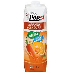 Néctar de laranja e cenoura light