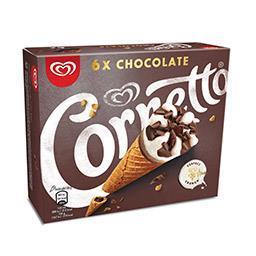 Gelado cornetto chocolate