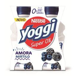 Iogurte liquido yoggi super 0% amora e mirtilos