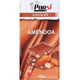 Tablete de chocolate de leite com amêndoas