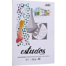 Estudo Aguarela A3 -200 gr, 10 Folhas