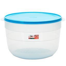 Caixa para alimentos redonda com grelha