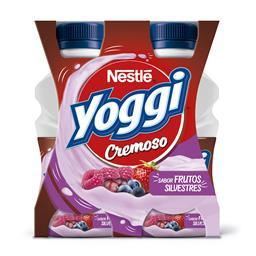 Iogurte líquido yoggi cremoso frutos silvestres