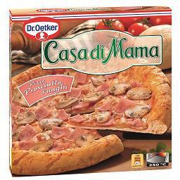 Pizza casa di mama, fiambre e cogumelos
