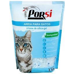 Areia para gato sílica-gel