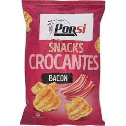 Snacks crocantes com bacon