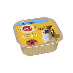 Alimento húmido para cão borrego