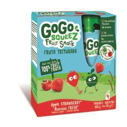 Gogosqueez snack morango 4x90g