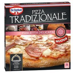 Pizza tradizionale de pancetta delicata