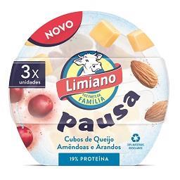 Snack de queijo flamengo, amêndoas e arandos 3x40g