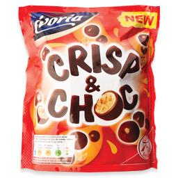 Bolas de cereais cobertas de chocolate