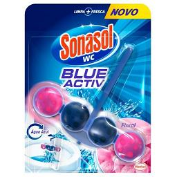 Bloco sanitário, Blue Active Floral