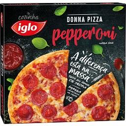 Pizza massa fina Pepperoni