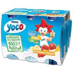 Yoco liq. morango banana all nat 6x90g