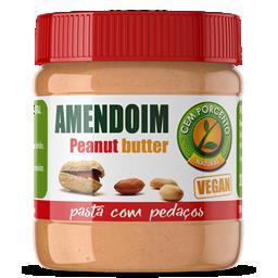 Pasta de amendoim com pedaços