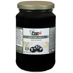 Azeitonas pretas sem caroço, frasco de 165 g