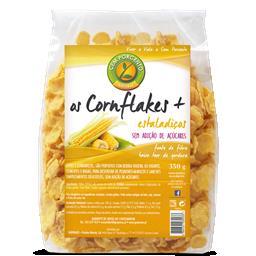 Os cornflakes + estaladiços sem açúcar