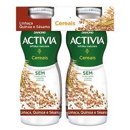 Iogurte activia líquido linhaça, quinoa e sésamo