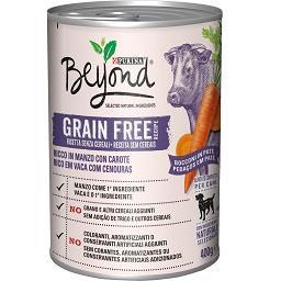 Alimento húmido de vaca para cão