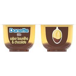 Sobremesa danette duo baunilha e chocolate