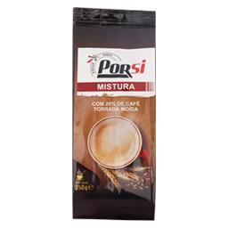 Mistura com 20% café torrada moída