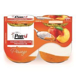 Iogurte cremoso de pêssego