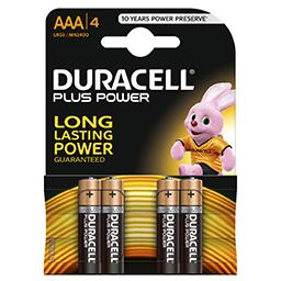 4 Pilhas Alcalina Plus LR03