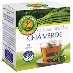 Chá infusão verde planta simples