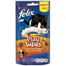 Snack para gato com sabor a frango e fígado Play Tub...