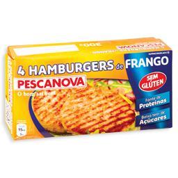 4 hamburgers de frango