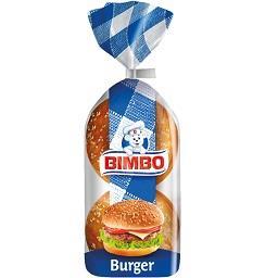 Pães para hamburguer com sésamo, 4 unidades