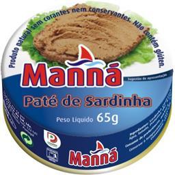 Pasta de sardinha 65gr manna