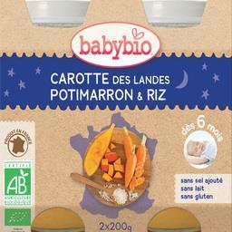 Boião refeição cenoura e abobora babybio 2x200g