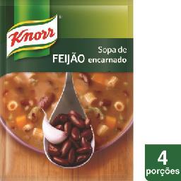 Sopa caseira de feijão encarnado