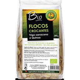 Flocos crocantes trigo-sarraceno e quinoa bio