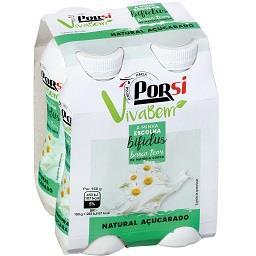 Iogurte líquido bifidus natural açucarado