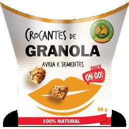 Crocantes de granola aveia e sementes