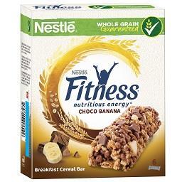 Barra fitness chocolate e banana