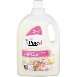 Detergente de máquina para roupa líquido, 2 em 1, 40...