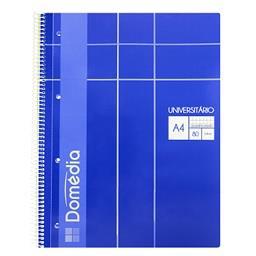 Caderno espiral universal A4 | 80 folhas | quadricul...