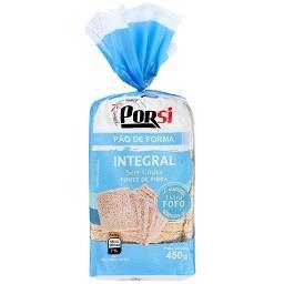 Pão forma integral sem côdea