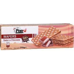 Bolachas waffers chocolate