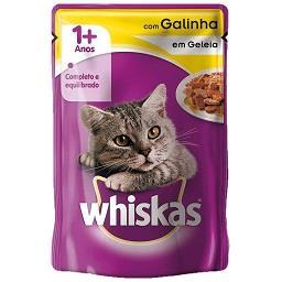 Comida húmida com galinha para gato +1 ano