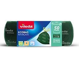 Saco Lixo Ecobag Reforçado 50L (Fecho Fácil)