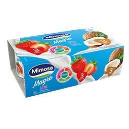 Iogurte magro aroma multi-sabores de morango/coco