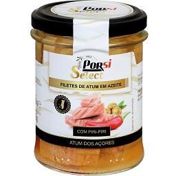Filetes de atum dos Açores em azeite c/ piri-piri