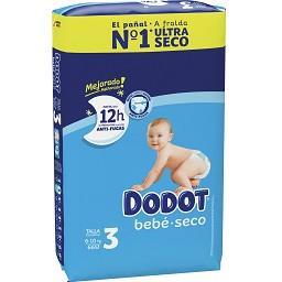 Fraldas bebé seco extra T3 de 6 a 10 kg