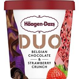 Gelado pint duo belgian chocolate & strawberry