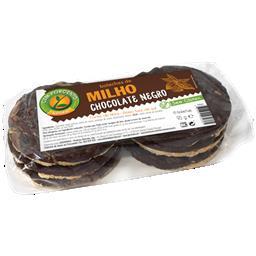 Bolacha milho chocolate negro