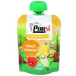 Saqueta de puré de fruta | maçã + banana